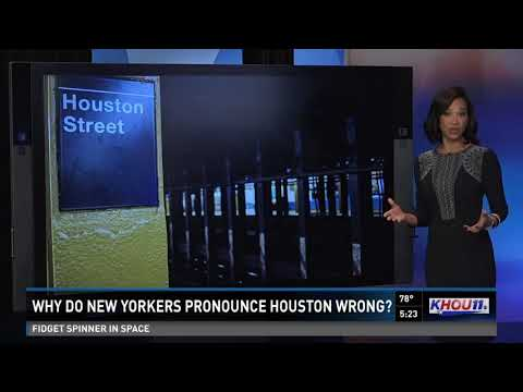 Why do New Yorkers pronounce Houston wrong?