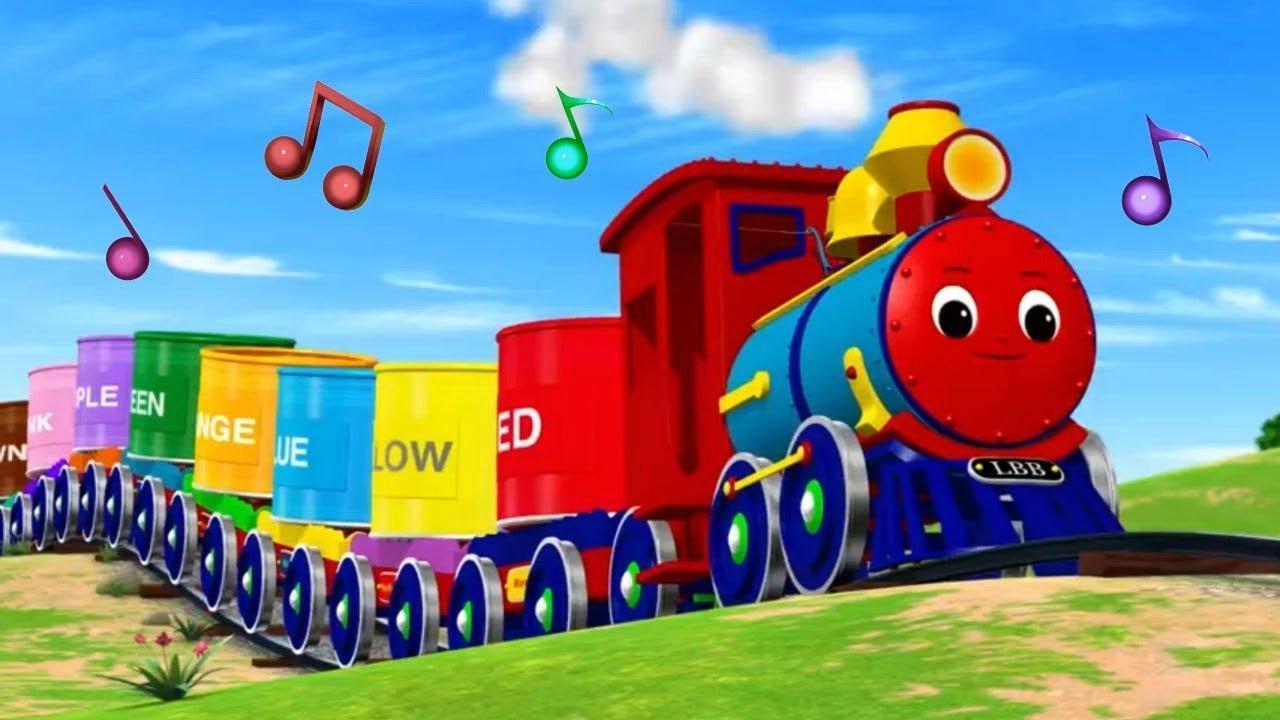 Музыкальные мультики - Учим цвета с паровозиком - Песенки для детей Литл Бэйби Бам