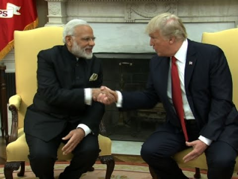 Trump Welcomes Indian PM Modi to White House