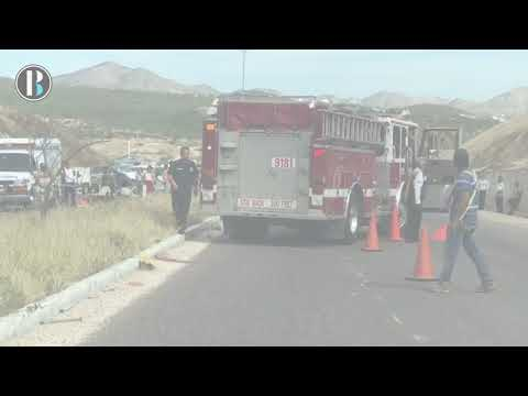 Accidente en carretera transpeninsular deja varios turistas heridos