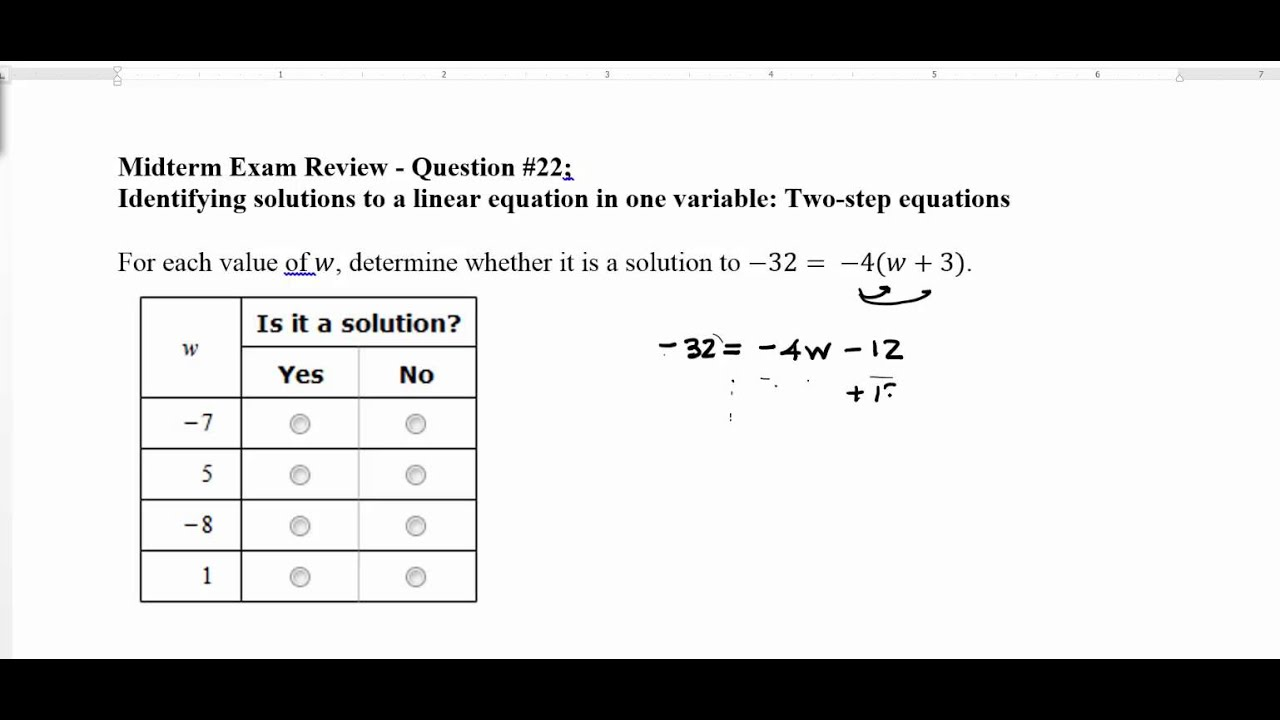 All Grade Worksheets Solving Linear Equations Worksheet All – Solving One and Two Step Equations Worksheet