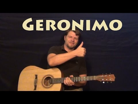 Geronimo (Sheppard) Easy Guitar Lesson How to Play Tutorial - Most ...
