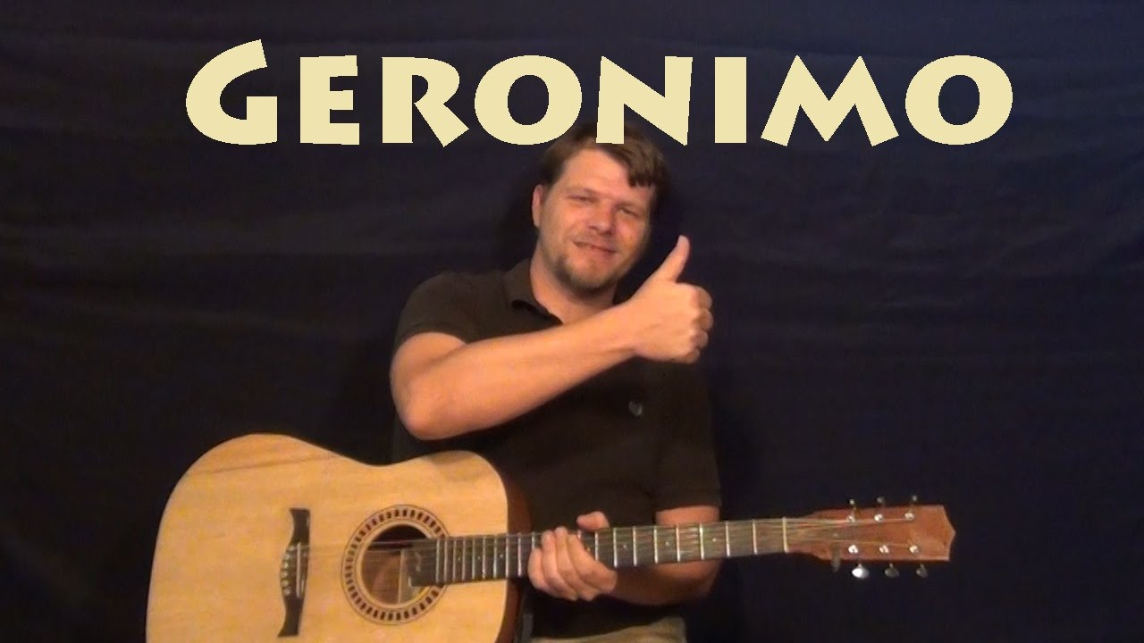 Geronimo Sheppard Easy Guitar Lesson How To Play Tutorial Youtube