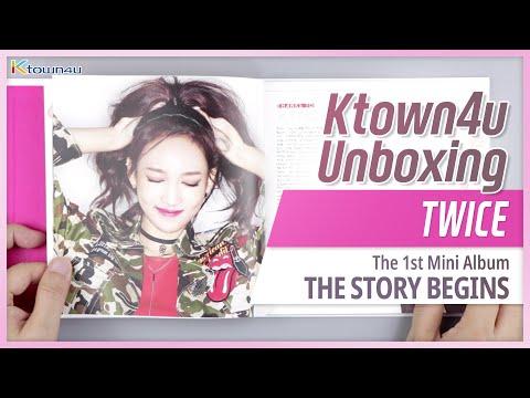 "Unboxing TWICE ""THE STORY BEGINS"" the 1st mini album, トゥワイス 트와이스 언박싱 Kpop Ktown4u"