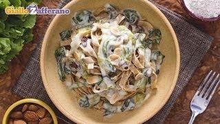 Whole Wheat Tagliatelle With Escarole And Cheese Fondue - Recipe