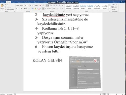 m3u Uyumlu Kanal Listesi Oluşturma IPTV İçin Kanal Listesi Hazırlama