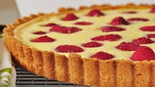 Raspberry Cream Cheese Tart Recipe Demonstration - Joyofbaking.com