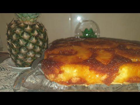moelleux-gâteau-a-l'ananas-caramélisé-كيكة-قطنية-بالاناناس-المعسل