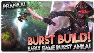 EARLY BURST ANKA BUILD!! Vainglory 5v5 Gameplay - Anka |Hybrid| Jungle Gameplay
