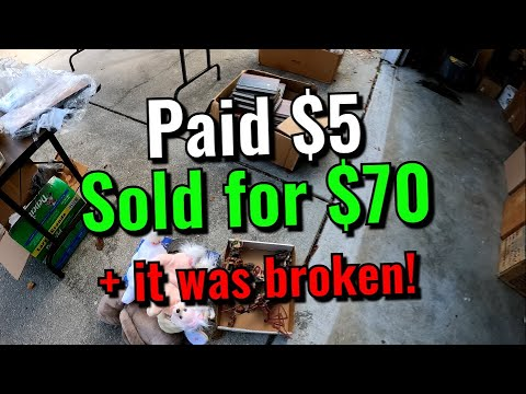 I MADE AN INCREDIBLE PROFIT FROM THIS ITEM! AND IT DID NOT EVEN WORK! Garage sale flip