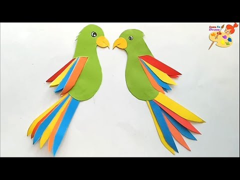 how to make a paper parrot /easy craft