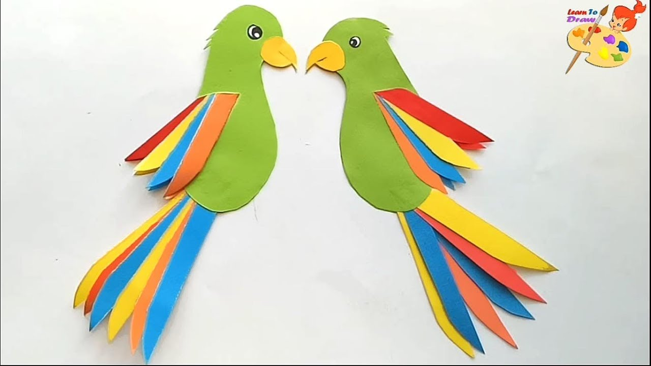 Several ways of how to make a parrot from paper