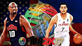 FIBA 2K17 Gilas Pilipinas vs USA Olympic Team 2012