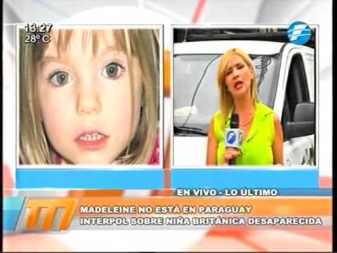 Madeleine no está en Paraguay, según Interpol 08 03 16