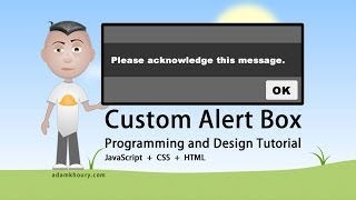 Custom Alert Box Programming JavaScript CSS HTML Tutorial