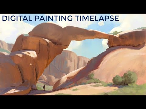 Landscape Digital Painting: PART 01
