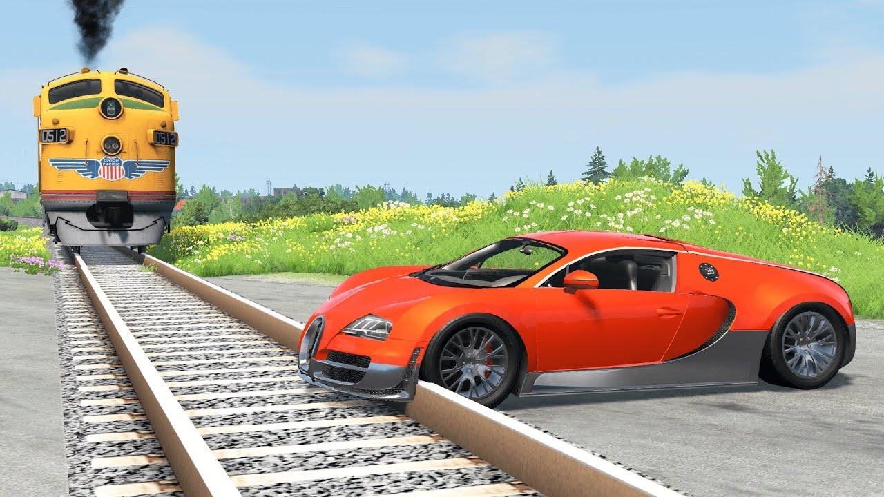 Cars vs Rails – BeamNG.Drive