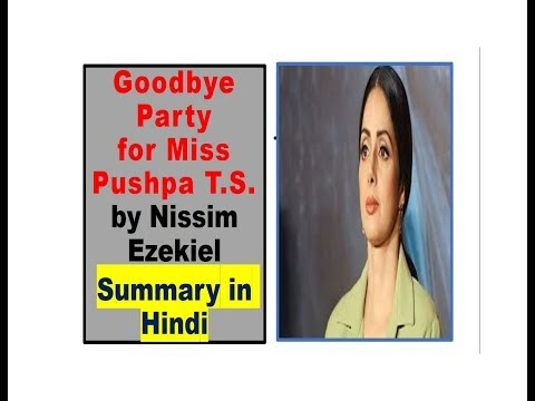 goodbye party for miss pushpa ts questions and answers