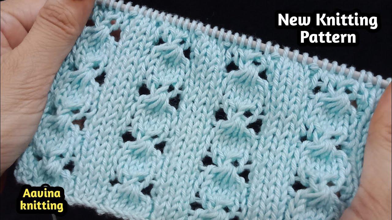 Knitting design #409 | बहुत खूबसूरत लेस बुनाई | simple and easy pattern