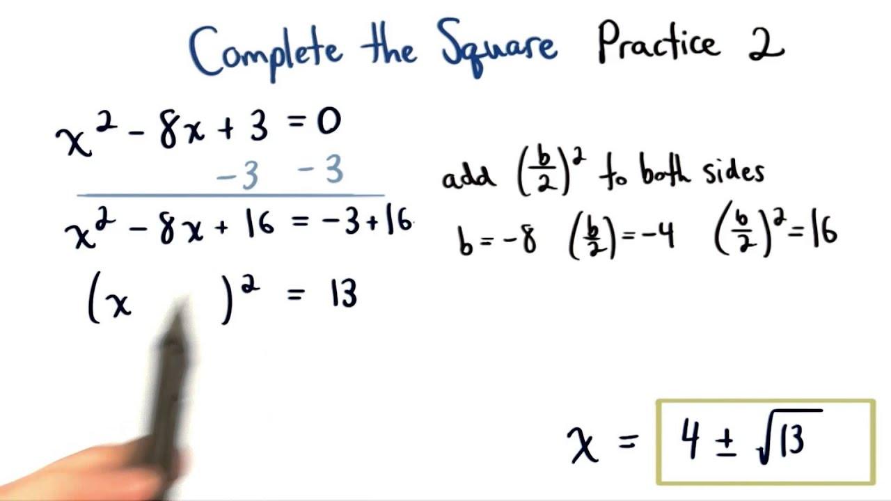 Complete The Square Practice 2 Visualizing Algebra