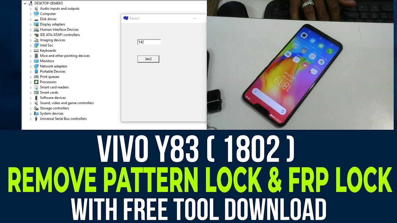 VIVO Y83 ( 1802 ) Remove Pattern Lock free tool Download