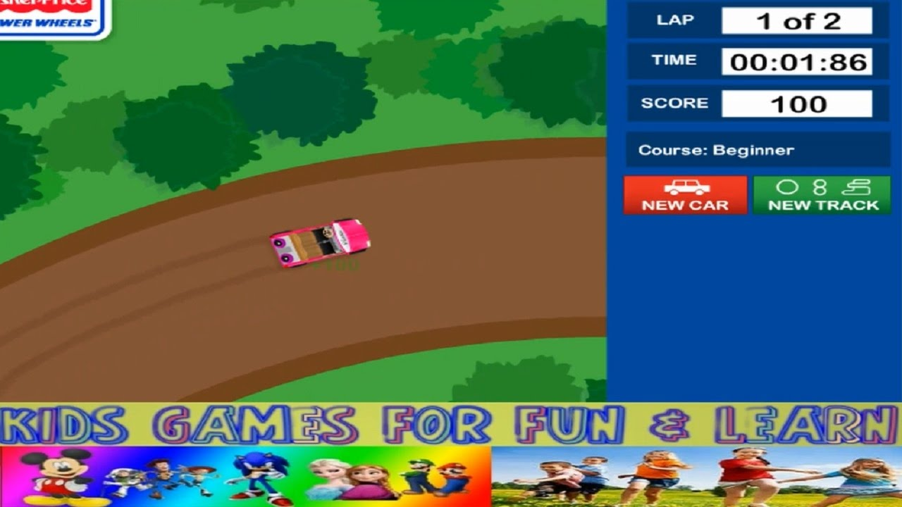racing cars games for kids kid game online