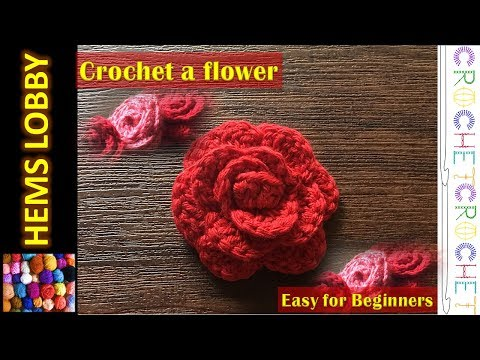 How to Crochet a flower (Tamil/English) - Beginner easy flower