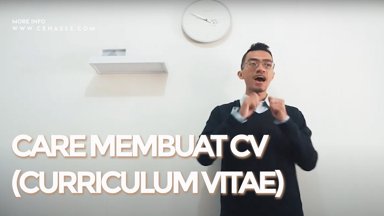 Cara Membuat CV Dalam Bahasa Inggris - YouTube