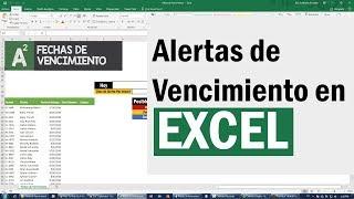 Alerta de fechas de vencimiento automáticas en Excel