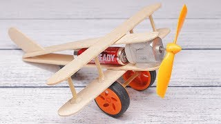 How To Make A Plane With Dc Motor   Toy Wooden Plane Diy