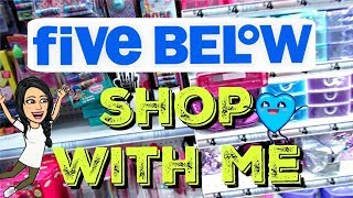 FIVE BELOW SHOP WITH ME | CHEAP *NEW* 3/$5 MAKEUP, $5 DUPES, & MORE!!!