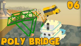 "Poly Bridge Gameplay Part 6 - ""school Bus Jumping!!!"" (bridge Building Game)"