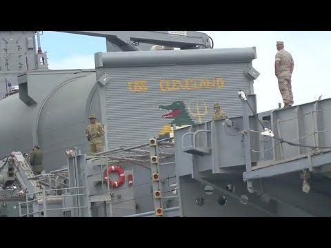 USS Cleveland Prepares to Depart Pearl Harbor (HD)