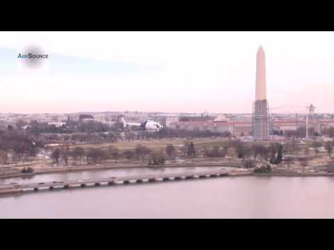 Customs and Border Protection AS350 A-Star Helicopter Flies over Washington, D.C. Landmarks