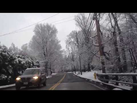 Driving In Scarsdale New York During Snow