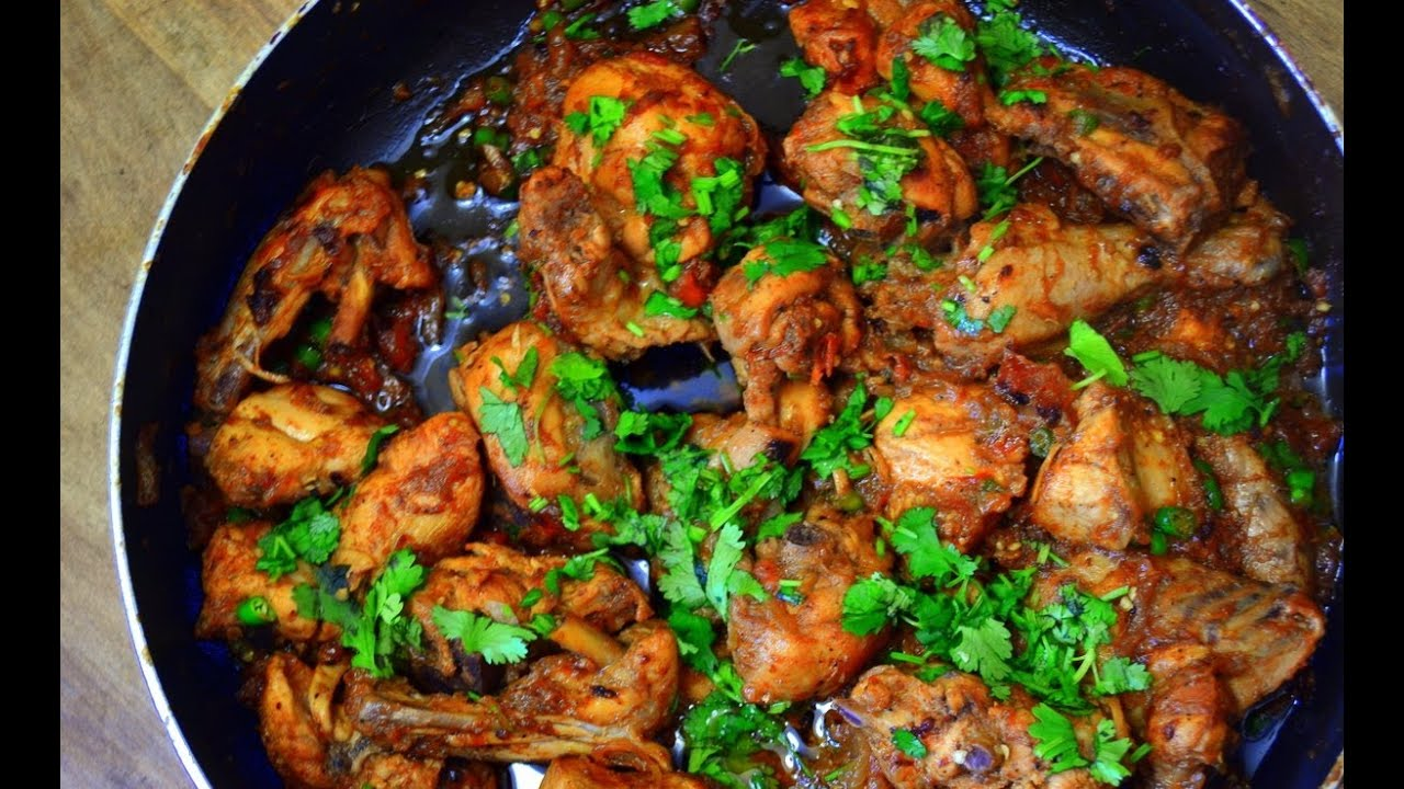 Kadai Chicken Recipe - YouTube