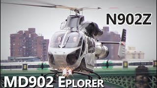 Private MD900 N902Z -- LONDON HELIPORT SERIES EP. 8