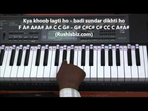 Kya Khoob Lagti Ho Piano Tutorials -...
