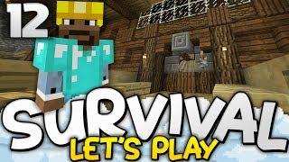 MOB SPAWNER XP FARM! - Survival Let's Play Ep. 12 - Minecraft Bedrock (PE W10 XB1)