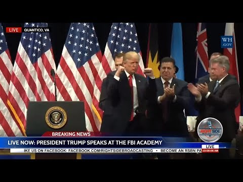 Download Youtube: WATCH: President Donald Trump EXPLOSIVE Speech at FBI Academy in Quantico, VA
