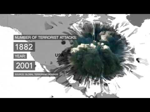 15 Years Of Terror: Timeline map of terrorist attacks since 2001