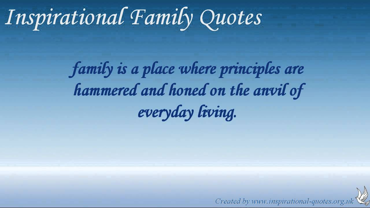 Inspirational Family Quotes Cool Inspirational Family Quotes  Youtube