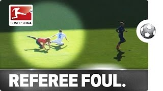 Look Out! Referee Takes Out Player During Game