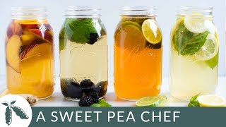 4 Healthy Iced Tea Recipes For Summer | A Sweet Pea Chef