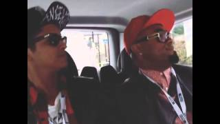 Bruno Mars And Philip Lawrence On way to the Brits Awards 2014