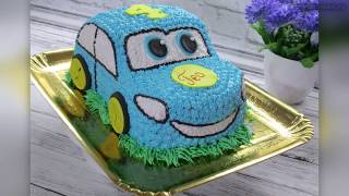 как сделать торт машину из крема в домашних условиях