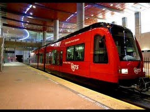 san diego trolley green line construction at sdsu then now youtube. Black Bedroom Furniture Sets. Home Design Ideas