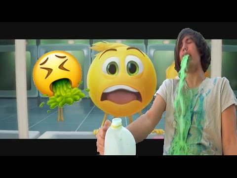 Thumbnail: The Emoji Movie trailer but every time its cringy someone vomits