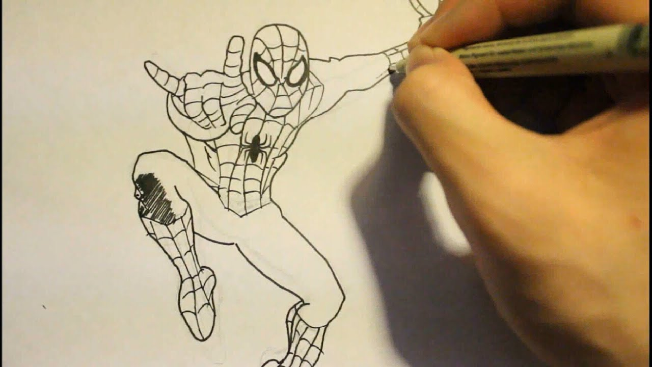how to draw the amazing spider man 2 face step by step easy como
