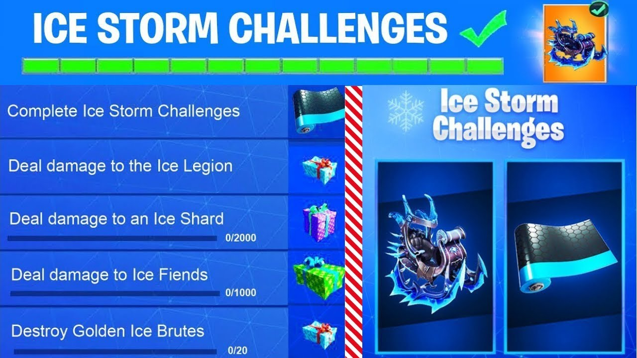 New Fortnite Ice Storm Challenges Free Rewards Free Gifts